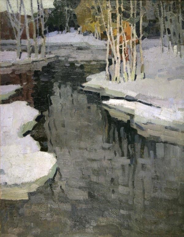 """Peter Keller. """"Early spring"""", H., M., 91x73.Пётр Келлер.«Ранняя весна», х., м., 91х73."""