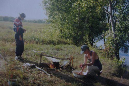 Михиал Лифанов и Валерий Кульченко. Калач-на-Дону. Кульченко. 2000 год.