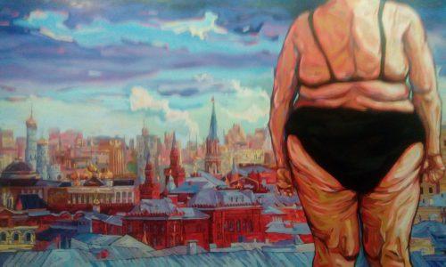 """Сергей Шнуров, """"Крещенские морозы"""", 2016, холст, масло. Фото: Галина Пилипенко."""