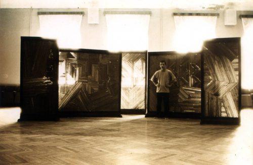 Александр Кисляков, проект «Любовница Пифагора». Выставочный зал Городского дома культуры, Таганрог, июль 1996 года.