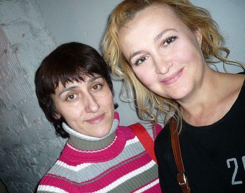 Тамара Пивторыпавло и я - Галина Пилипенко в 2010 году.