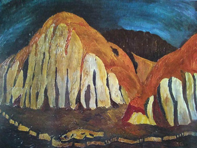 Валерий Кульченко.«Время золотых холмов». Х.,м. 60х80. 1980 год.